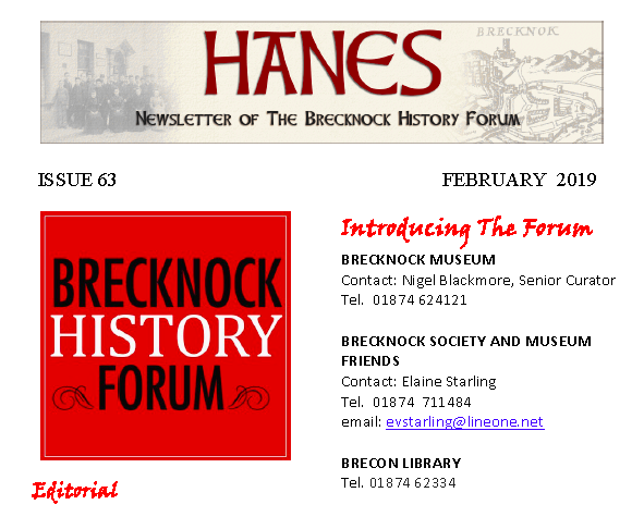 Hanes - Click for back issues of Hanes newsletter