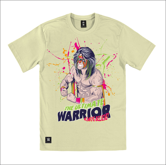 The Ultimate Warrior -      Officially licensed tee print ©WWE.