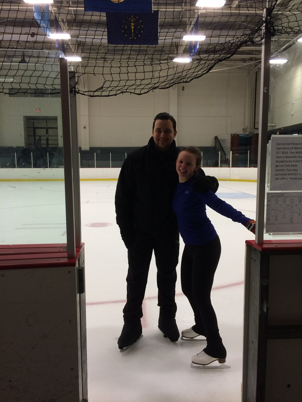 Speaking of athletics, have I mentioned that Chloe plans to continue figure skating while in college? We made time for her to try out Centennial Ice Rink during this visit.