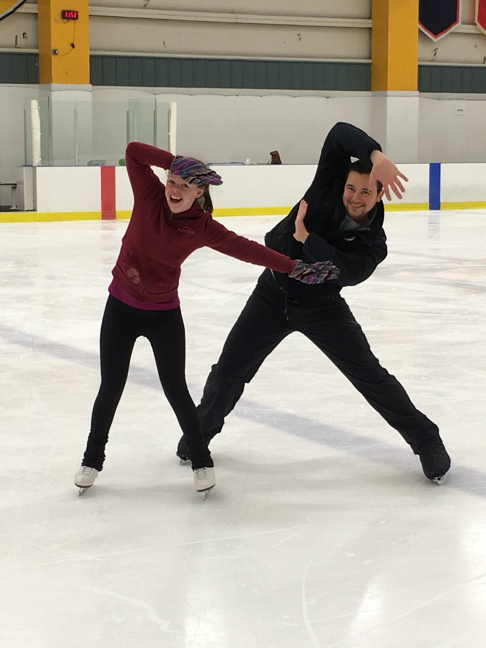 These two are something else - we enjoyed watching her lesson just as much as she enjoyed skating it!!!