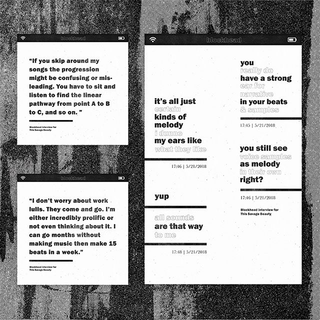 Artwork & design for my interview 'Building Beats with Blockhead' with @blockheadnyc for @this_savage_beauty ⠀ .⠀ .⠀ .⠀ ⠀ #digitalart  #graphicdesign #thissavagebeauty #musicdesign #designjunkie #musicjunkie #hiphop #hiphophead #illustrationnow #designnow #musicislife #design #illustration #typographydesign #typography #beats #ninjatune#producer #hiphopmusic #instamusic #instrumentalhiphop #blockhead ⠀  #typography #graphicdesigner #photoshop #designinspiration #adobe #type #goodtype #typespire