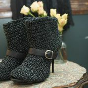Crochet-covered Shoes
