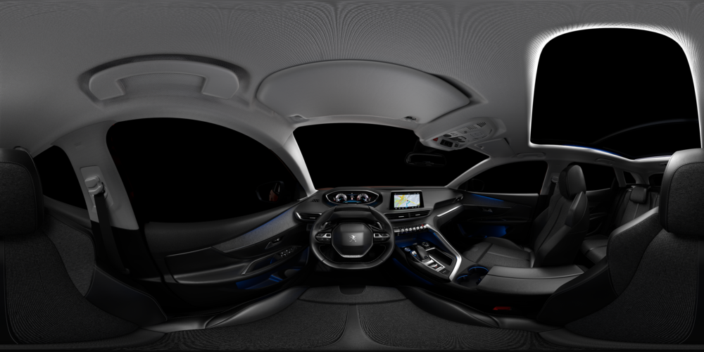 3D RENDER of the 3008 INTERIOR