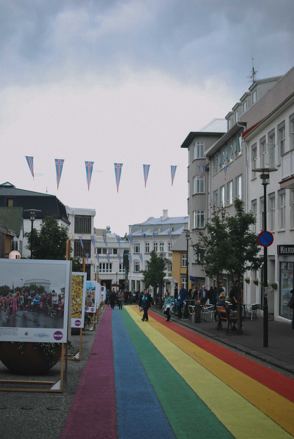 We found the Rainbow Road, which was painted for the Reykjavik Pride Festival that occurred earlier this August.