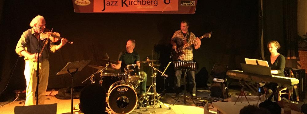 JAZZHERBST 2018, MIC OECHSNER - violin, JOE RESL - drums, LUKAS WÄLLSTEDT - bass, ANNA DOBLHOFER - piano
