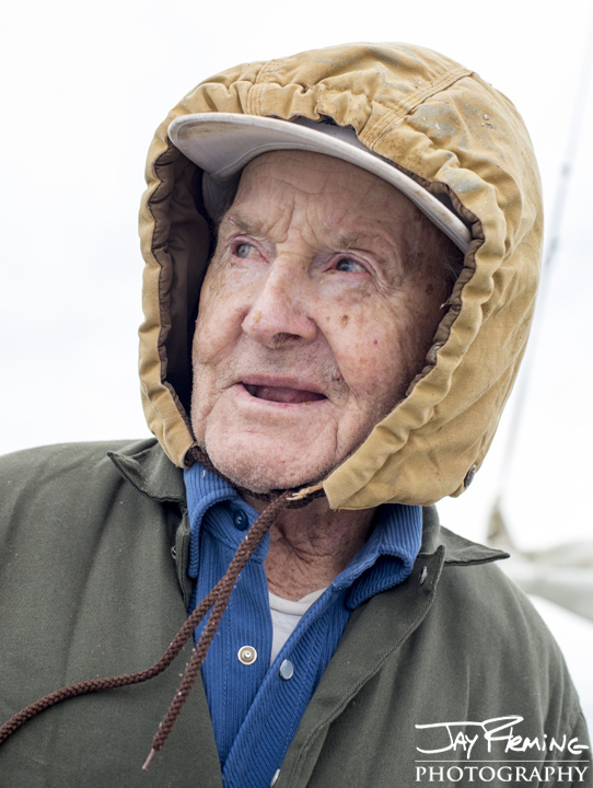 93 year old skipjack captain Art Daniels. November 2014