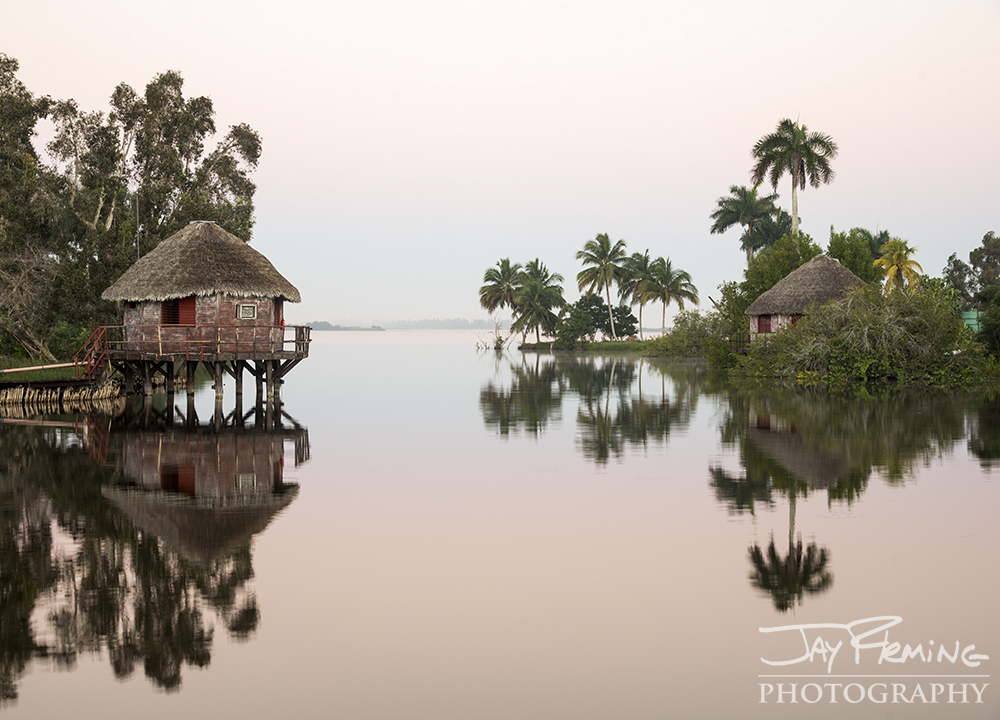 Boca Guama is a reconstructed Taino Indian village on the eastern end of Laguna del Tereso - a lake in the heart of the Zapata Swamp.