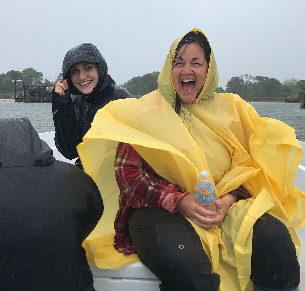 A positive attitude lets you have fun in even the worst conditions - 20+ NE wind and sideways rain!