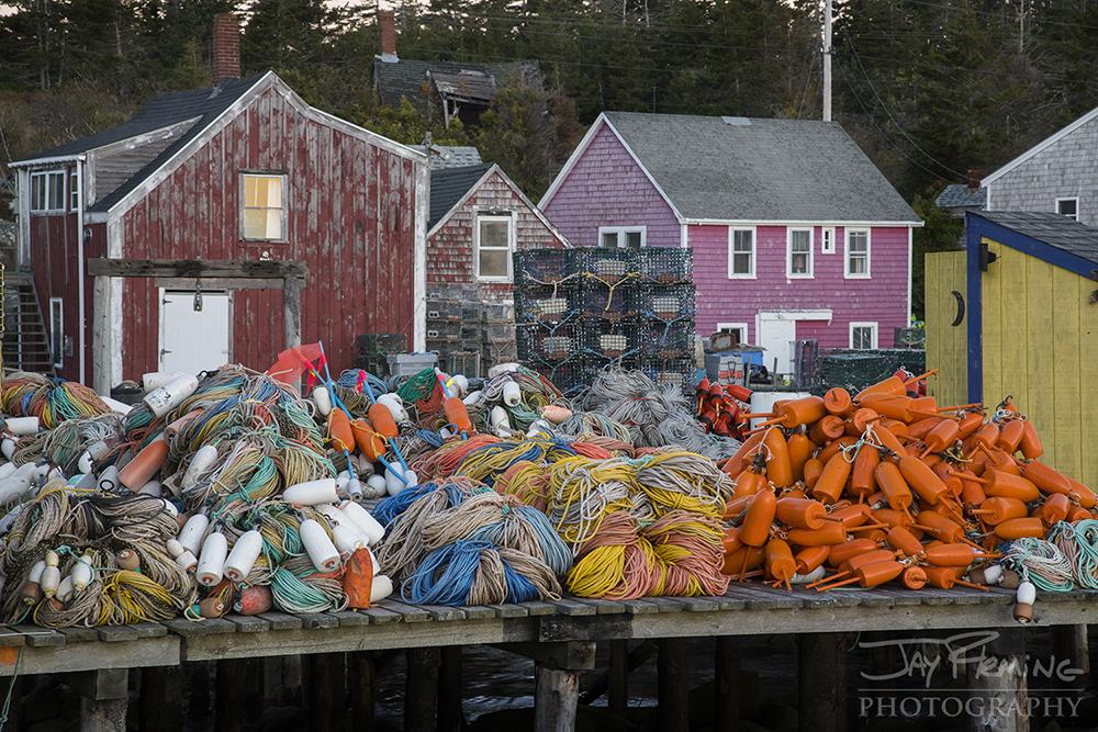 Lobster gear on a wharf at Matinicus Island.