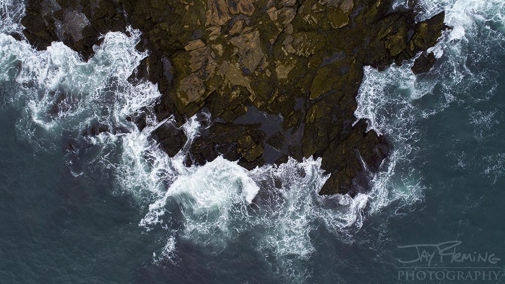 Rocky shoreline on Matinicus Island.