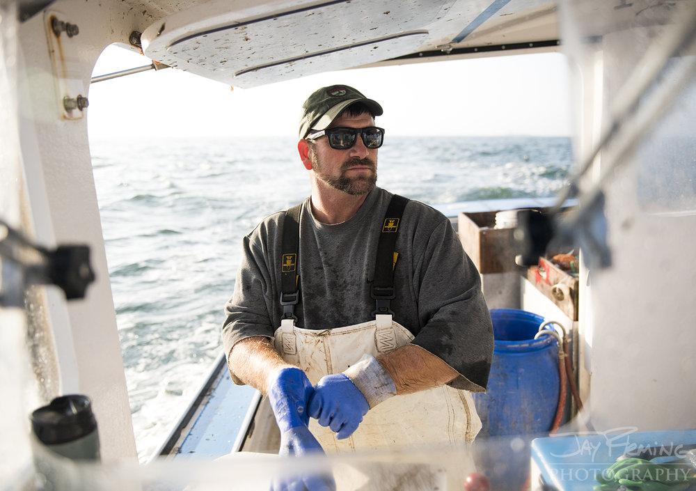 Vinalhaven lobsterman, Taza Watt.
