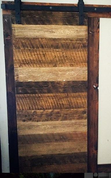 Reclaimed Oregon Barn Wood Horizontal Slat With Metal Trim 1 12 X