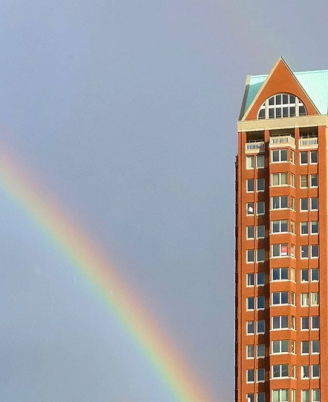 Postmodernist Rotterdam  #architecturephotography #architecture #design #building #urban #rotterdam #photography #rainbow #weekendtrip #building #postmodern #residentialdesign #city #cityscape