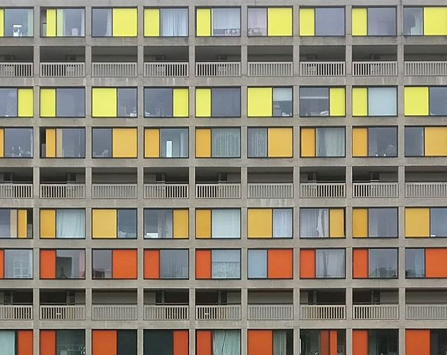 Park Hill Sheffield  #architecture #photography #colours #sheffield ##urbansplash #hawkinsbrown #design #urban #concrete