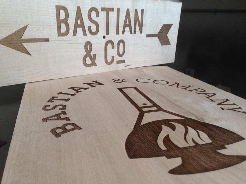 Bastian & Co. Sign, Walnut