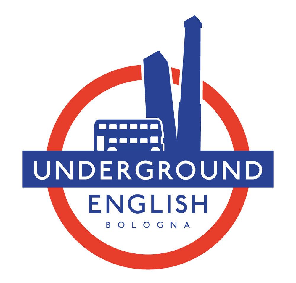 logo per il corso inglese di conversazione british a underground english bologna scuola di inglese con insegnanti madrelingua e recensione su google e facebook.