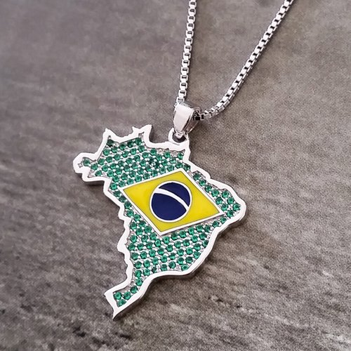 Brazil necklace crystal pendant global citizens jewelry brazil necklace crystal pendant aloadofball Choice Image