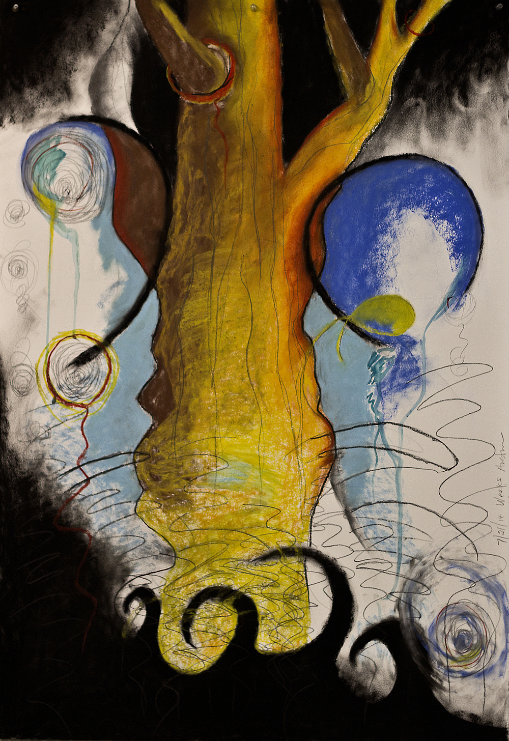 Scout K. Austin   and Kellie Weeks,   Untitled No. 26   pastel and charcoal, 30 x 44 in., $600.00