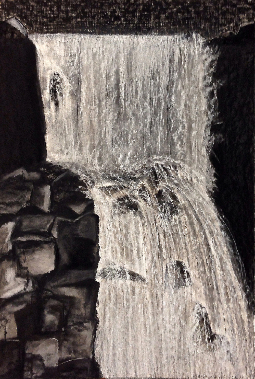 Scout K. Austin   and Kellie Weeks,   Untitled No. 35  SOLD    pastel and charcoal, 30 x 44 in., $600.00