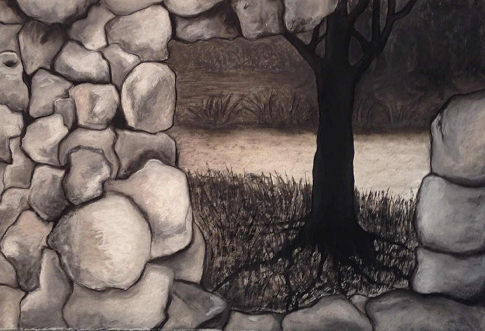 Scout K. Austin   and Kellie Weeks,   Untitled No. 48   pastel and charcoal, 44 x 30 in., $600.00
