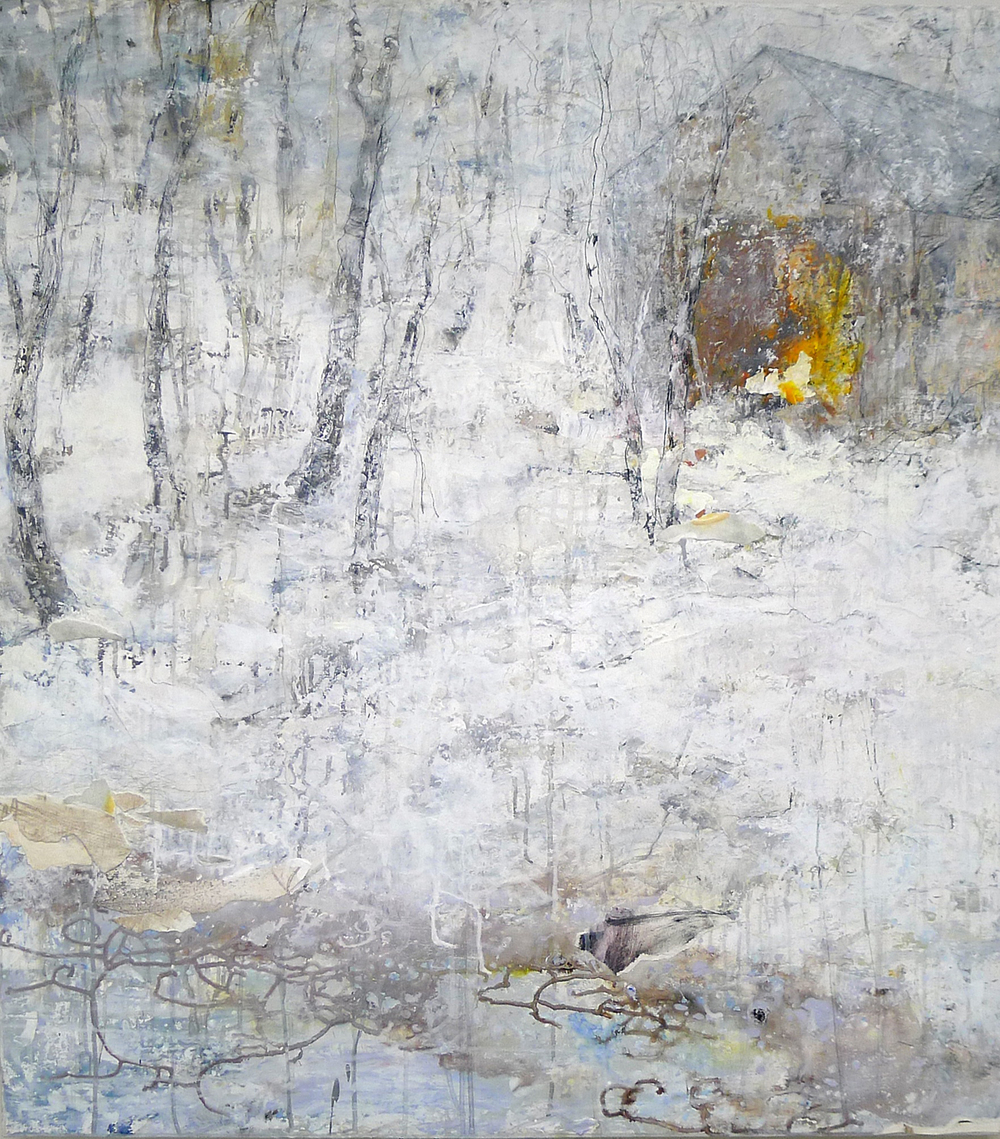 Brenda Cirioni, Barn Series: White Light,  mixed media, 40x36, $3,200