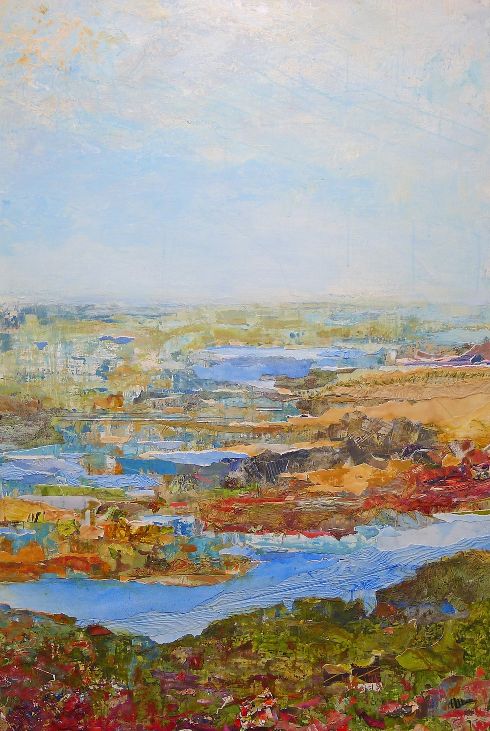 Brenda Cirioni, Familiar Terrain,  mixed media, 48x32, $3,200