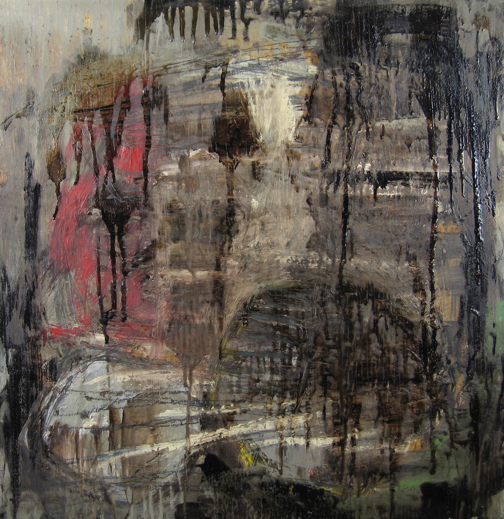 Leslie Zelamsky,  Sarah III: Perseverence,  mixed media, 24x24, $1,500