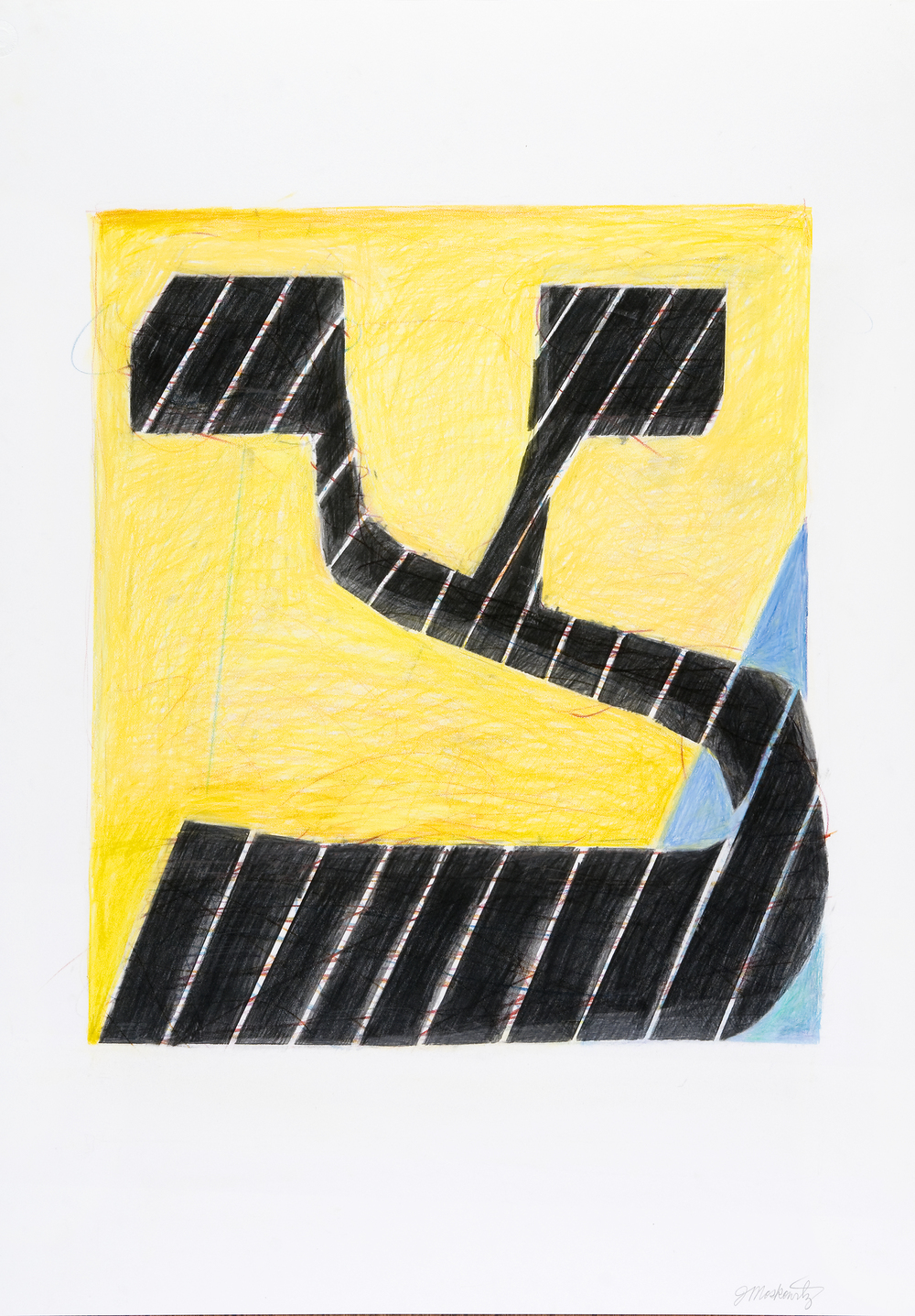 "Joel Moskowitz "" Tsadee "" graphite and colored pencil, 29""x22""  $650"