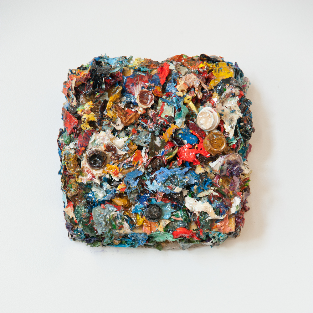 Palette Remnants #1 , Oil and resin on board, 6x6