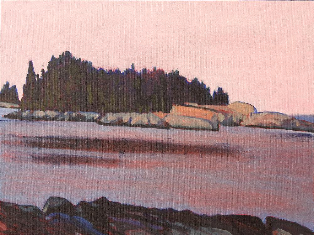 Heron Island, Dusky Sky , oil on canvas, 18x24, $1400