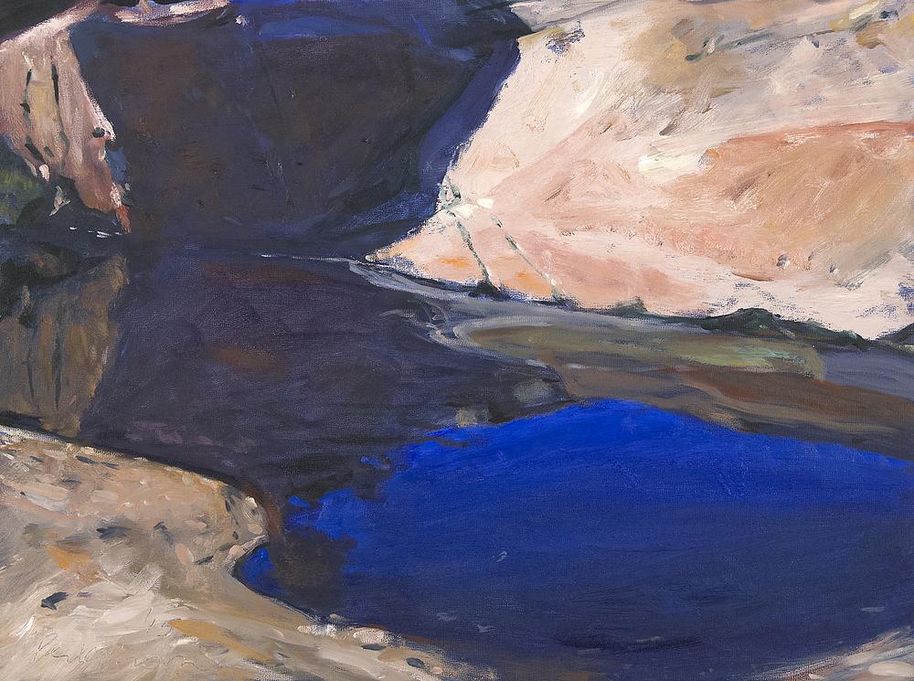 Pool on Schoodic , oil on panel, 18x24, $1500