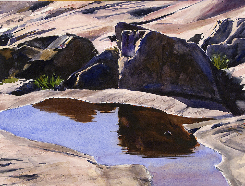Pool, Schoodic Peninsula , watercolor, 18x24