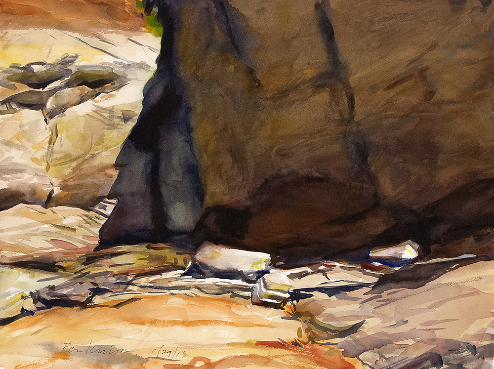 Rock Face, Lake Powell , watercolor, 18x24