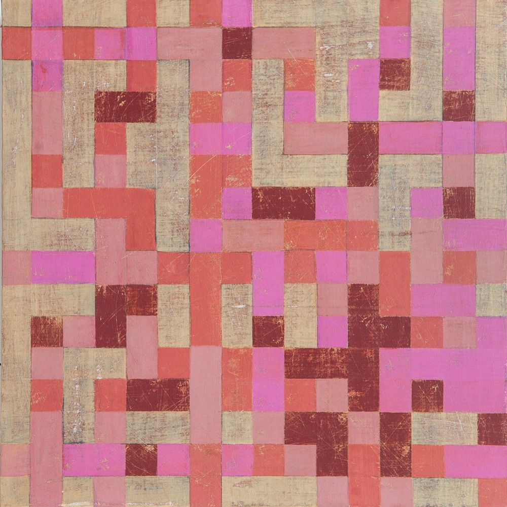 "Denise Driscoll, Ravel 1 , acrylic on panel, 12x12,"" $425"