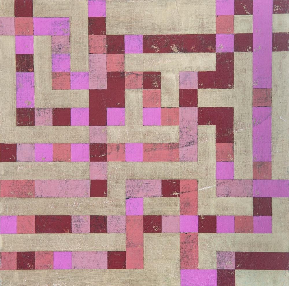 "Denise Driscoll, Ravel 2 , acrylic on panel, 12x12,"" $425"