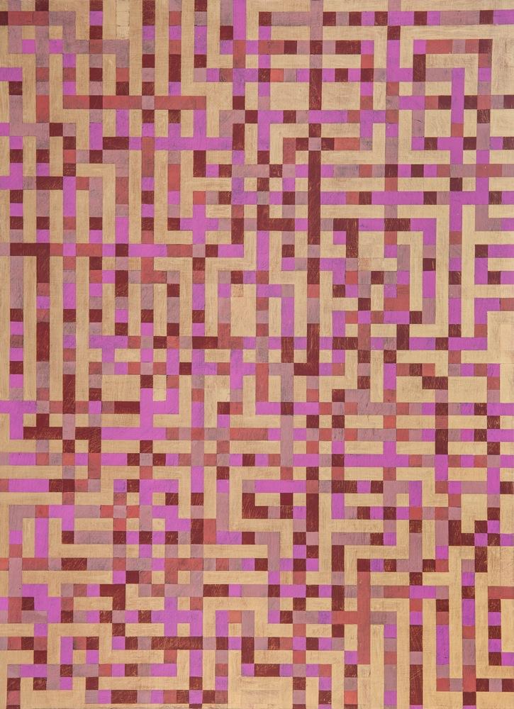 "Denise Driscoll, Ravel 4 , acrylic on panel, 40x30,"" $3,600"