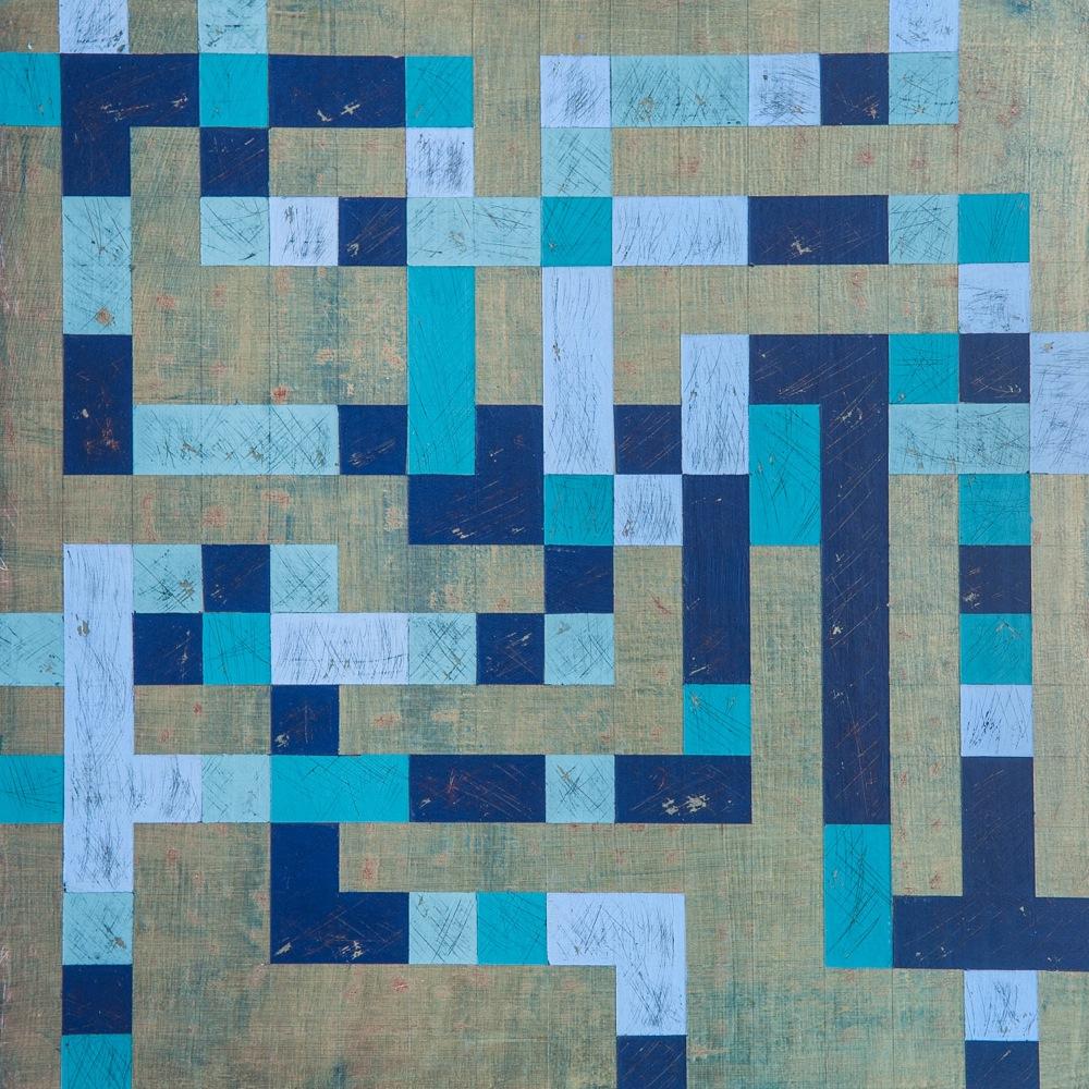 "Denise Driscoll, Ravel 3 , acrylic on panel, 12x12,"" $425"