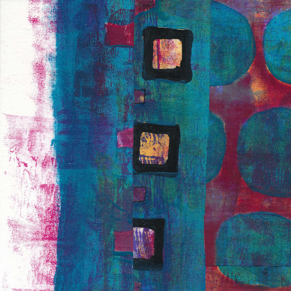 "Jeanne Williamson,  Fragments from Ice on Fences #4 , mixed media on board, 6x6,"" $125"