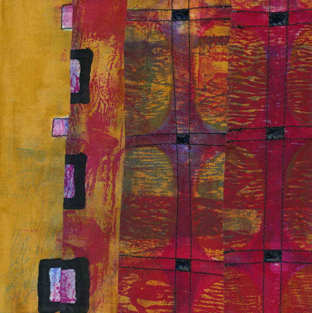 "Jeanne Williamson,  Fragments from Ice on Fences #11 , mixed media on board, 6x6,"" $125"