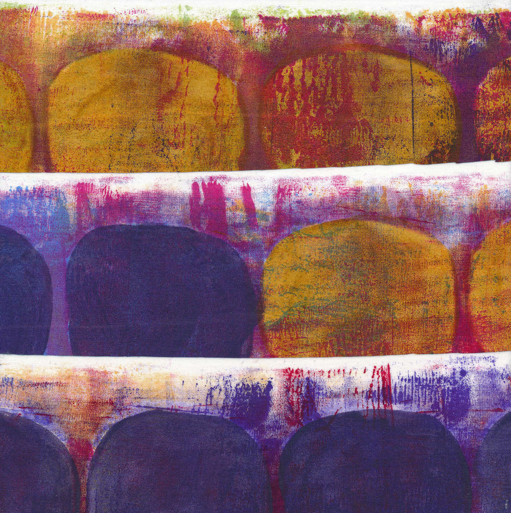 """Jeanne Williamson,  Fragments from Ice on Fences #22 , mixed media on board, 6x6,"""" $125"""