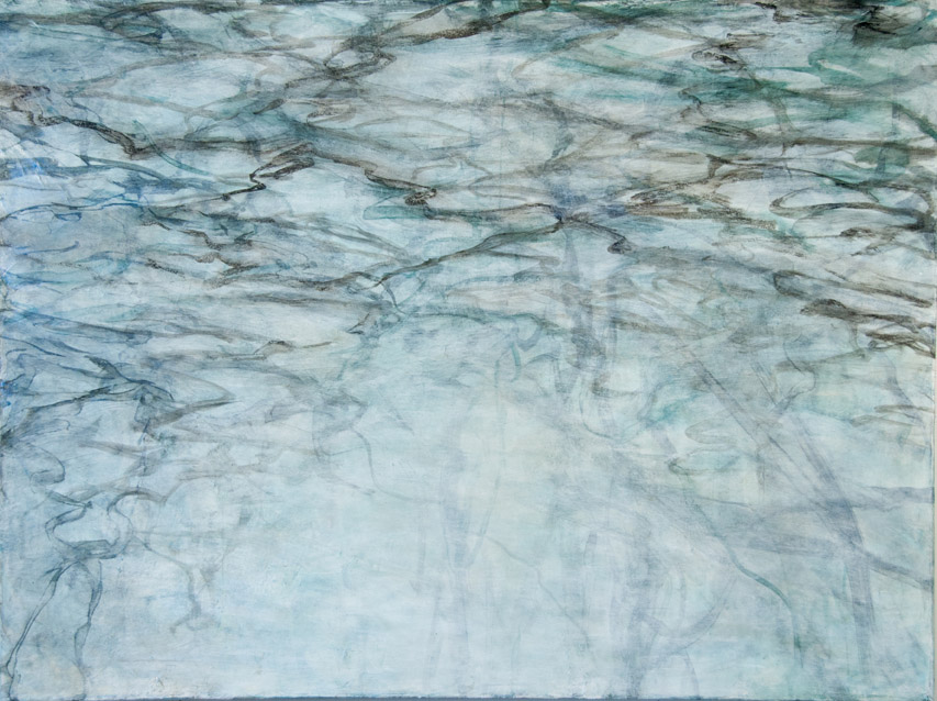 C. Clinton ,  Woodland Water Flooded Brook 4 , acrylic on canvas, 30x40,  $3,000