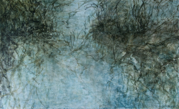 C. Clinton ,  Woodland Water Memory 1 , acrylic on canvas 30x48,  $3,600