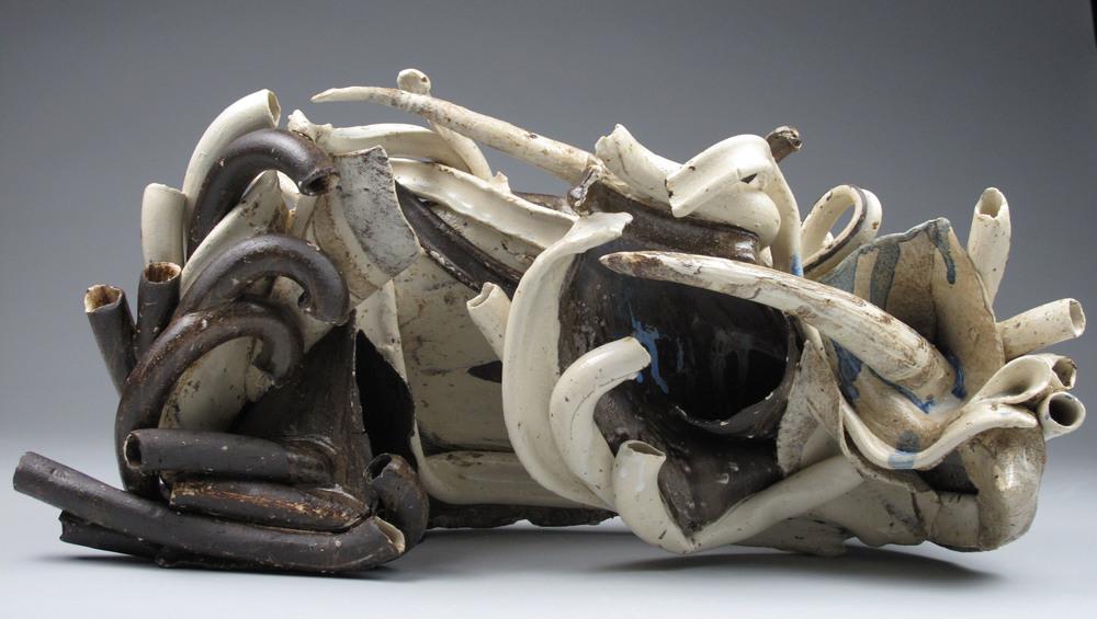 Sara Fine-Wilson ,  Dense , mixed ceramic, 14x12x8