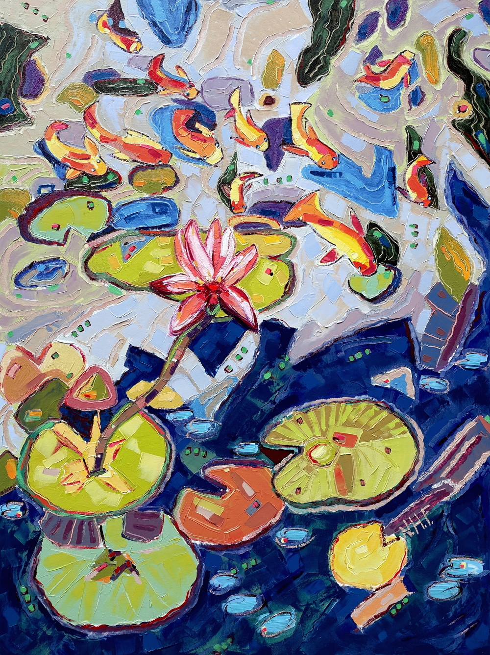 Into the Pond 3 , oil on canvas, 30x40, $3,975