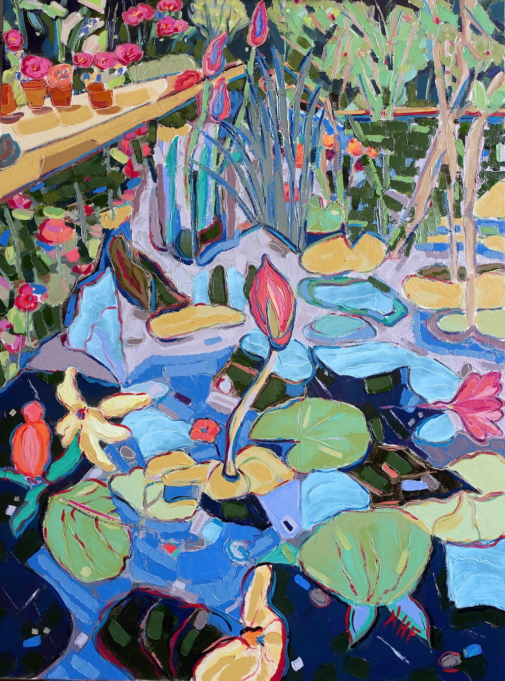 Into the Pond 4 , oil on canvas, 40x30, $3,975
