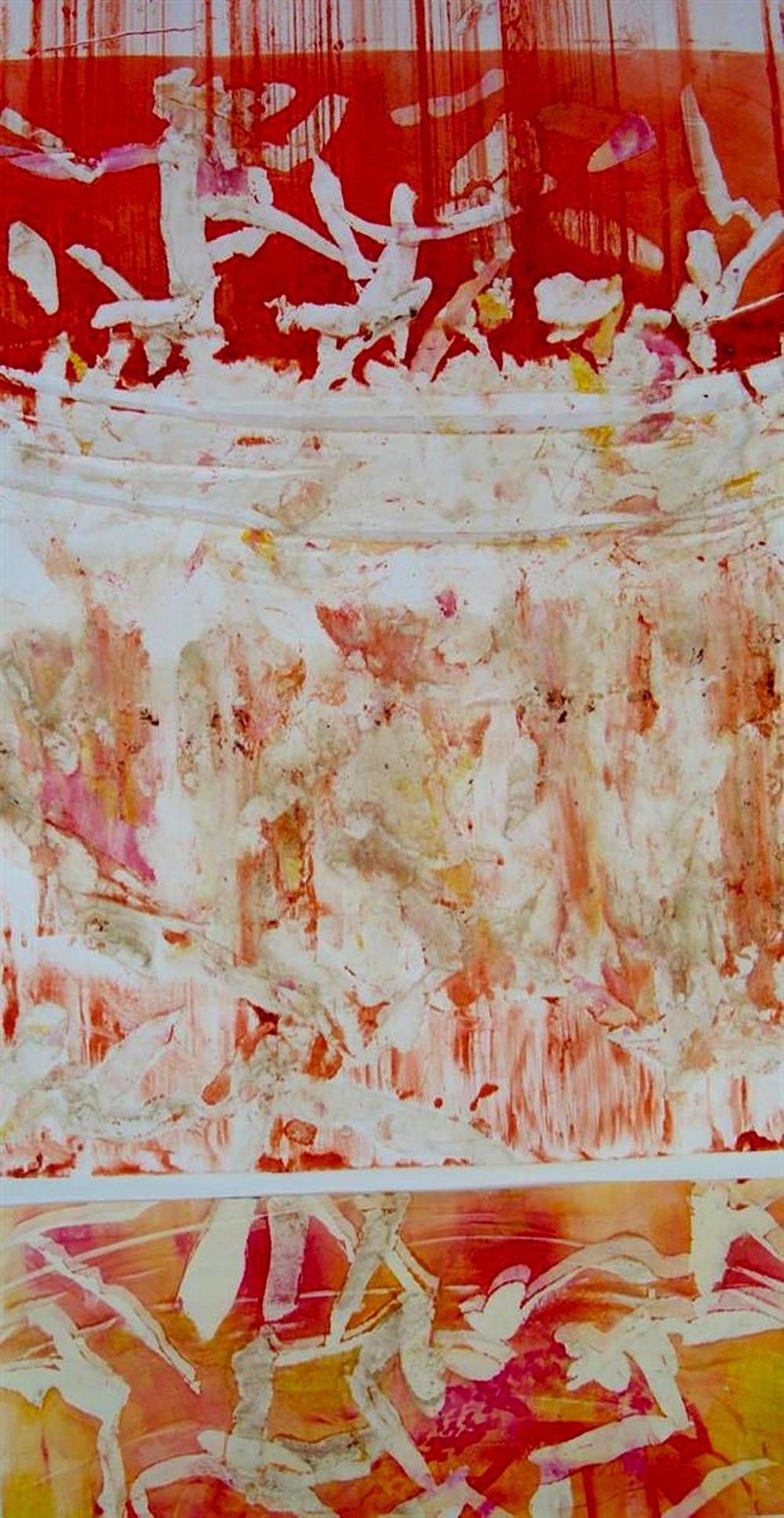 Deedee Agee,   Compost  , monotype, 16x30, $450
