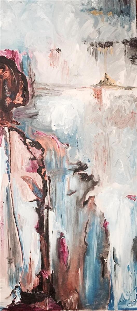 Jennifer Costello,   Musing  , acrylic, 16x40