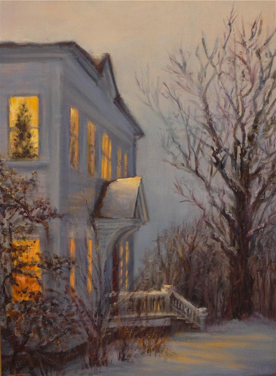 Margie Florini,   The Blue Hour  , Oil, 9x12, $900