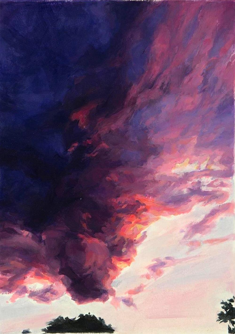 Linda Pearlman Karlsberg,   Roseate and Indigo  , oils, 17x21, $2,400
