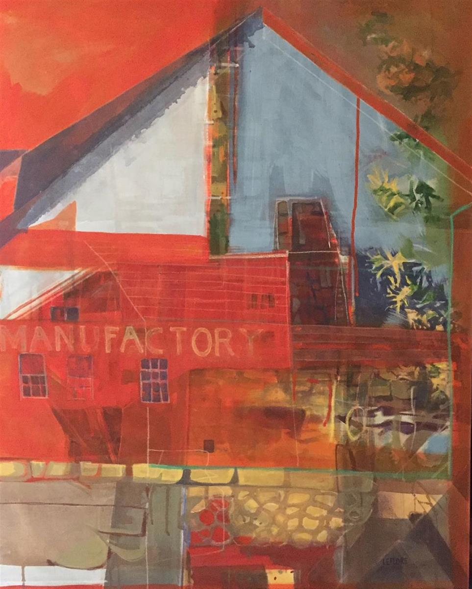 Bonita LeFlore, The Paint Factory, acrylics, 32x42